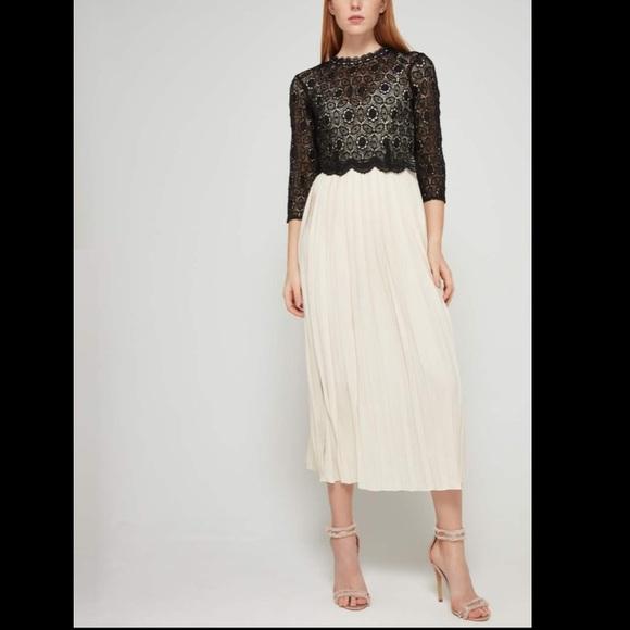 ASOS Little Mistress midi dress black lace top 4